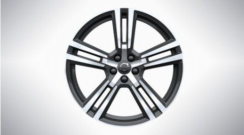 "XC60 20"" 5-Double Spoke TechBlack Diamond Cut Alloy Wheel"
